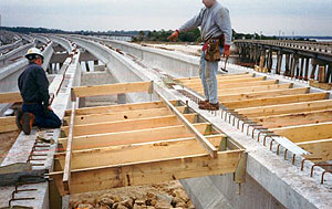 Framing a bridge deck with BORG hangers